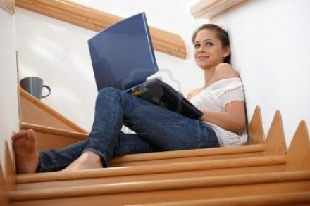 Me gustan tanto las escaleras que he decidido montar aquí mi oficina.